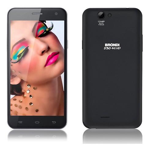 smartphone dual sim brondi 530 4g hd black cdr mobile. Black Bedroom Furniture Sets. Home Design Ideas